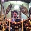 Ewangelię czyta ks. diakon Marek Waszczuk