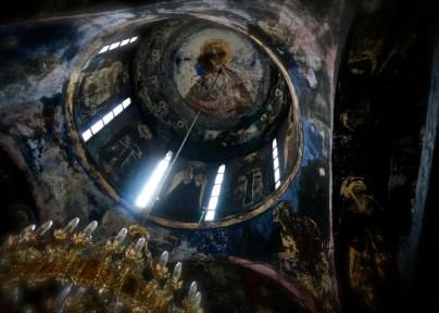 Kopuła głównej cerkwi monasteru Święty Roman w Serbii