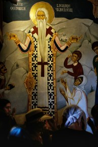 Fresk z ikoną św. Bazylego w cerkwi Świętej Trójcy