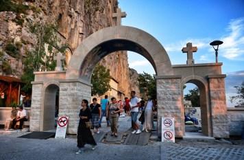 Brama wejściowa na dziedziniec górnego monasteru