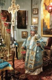 Władyka Abel w ołtarzu katedry pw. Przemienienia Pańskiego w Lublinie