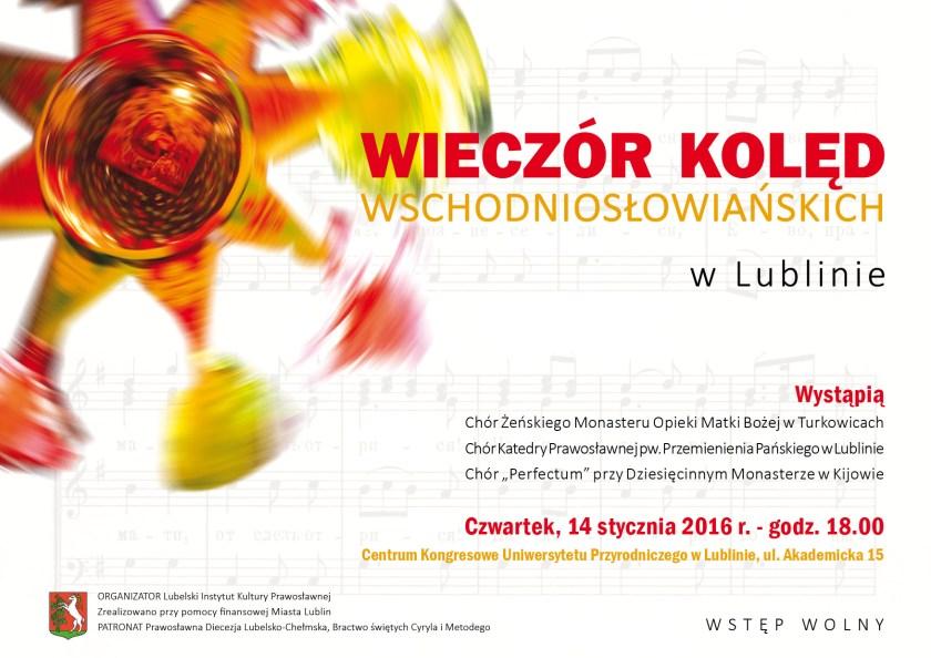 Wieczór Kolęd Wschodniosłowiańskich - plakat