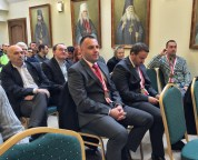 Odznaczeni Serbowie na wykładzie Archimandryty Stefana Šarića w ramach Bractwa CiM