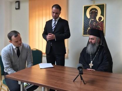 W imieniu Archimandryty Dumitru wykład po angielsku prowadzi dr Laurian Rus