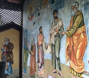 Na freskach znaleźli się nawet starożytni greccy mędrcy