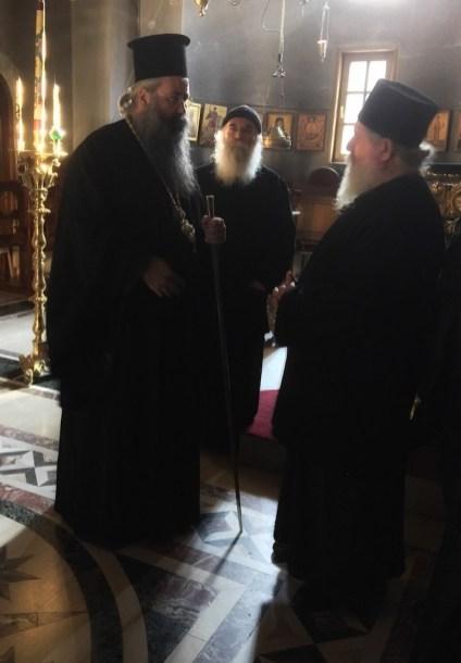 SPOTKANIE Z METROPOLITĄ GEORGIOSEM W MONASTERZE ŚW. DIONISOSA