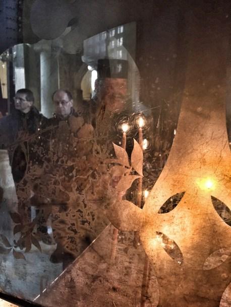 WŁADYKA ABEL PRZY RELIKWIACH ŚW. DYMITRA SOŁUŃSKIEGO W SALONIKACH
