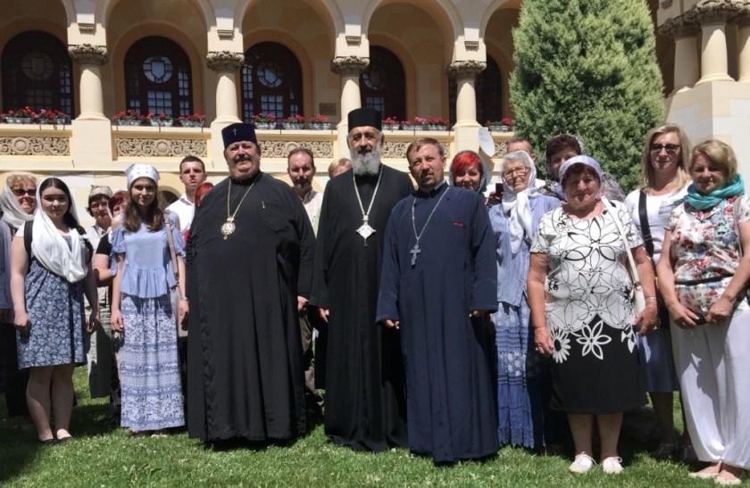 Pielgrzymi Bractwa CiM na audiencji u JE metropolity Ireneusza w Alba Iulia