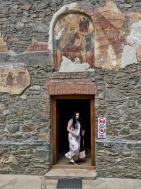 Pozostały po spaleniu cerkwi w XVII w. obraz ukazujący Jana Ewangelistę