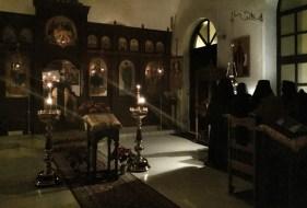Wieczorne nabożeństwo w Monasterze Opieki Bogarodzicy w Turkowicach