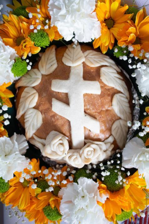Chleb na powitanie Władyki Abla w Holi