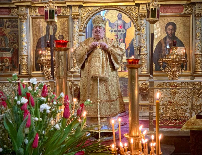 Kazania głosi JE Arcybiskup Abel