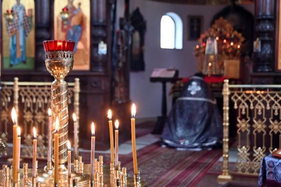 Obrzęd poświęcenia koliwa w cerkwi Świętego Ducha w Kodniu