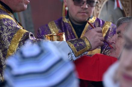 Boska Liturgia w piątą niedzielę Wielkiego Postu w cerkwi św. Anny w Międzylesiu