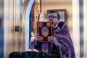 Boska Liturgia w cerkwi św. Michała Archanioła w Nosowie