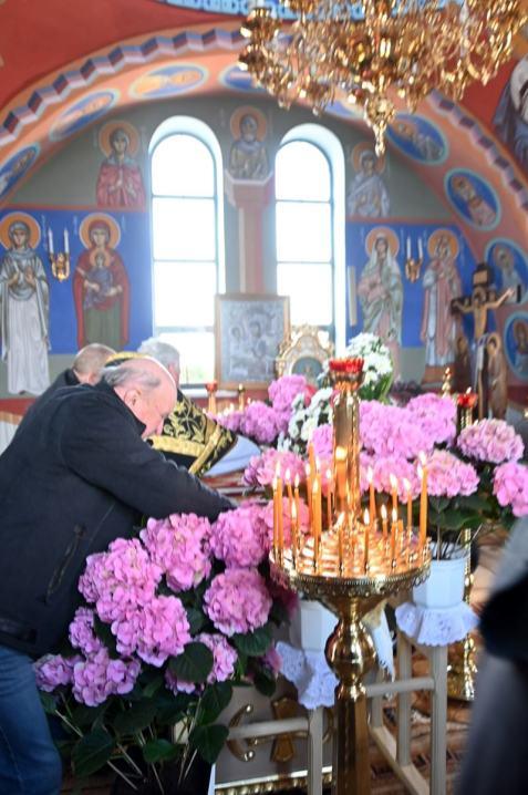 Wieczernia Wielkiej Soboty w Cerkwi Prawosławnej św. Anny w Międzylesiu