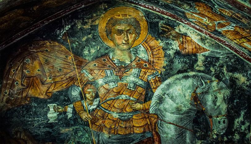 Σήμερα εορτάζει ο Άγιος Γεώργιος ο Μεγαλομάρτυρας και Τροπαιοφόρος ...