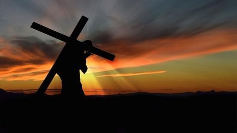 Στο βάσταγμα του Σταυρού που έκανε ο Κύριος