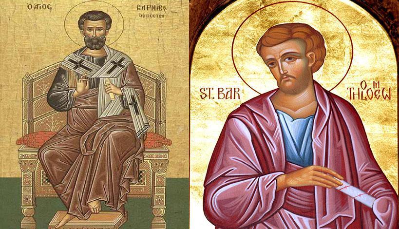 Εορτολόγιο 2021 - 11 Ιουνίου Άγιοι Βαρθολομαίος και Βαρνάβας