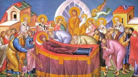 Ερμηνεία της εικόνας της Κοιμήσεως της Θεοτόκου
