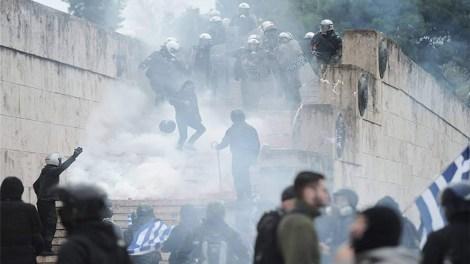 Μέγαρο Μαξίμου : Ανακοίνωση για τα επεισόδια στοΣυλλαλητήριο για την Μακεδονία στο Σύνταγμα
