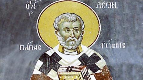 Ορθόδοξος συναξαριστής Δευτέρα 18 Φεβρουαρίου 2019, Άγιος Λέων Πάπας Ρώμης, βίος και Ευαγγέλιο