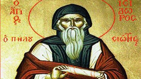 Ορθόδοξος συναξαριστής Δευτέρα 4 Φεβρουαρίου 2019, Όσιος Ισίδωρος ο Πηλουσιώτης, βίος και Ευαγγέλιο