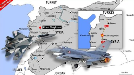Ρωσικά Σουχόι αναχαίτισαν τουρκικά F-16 στη Συρία
