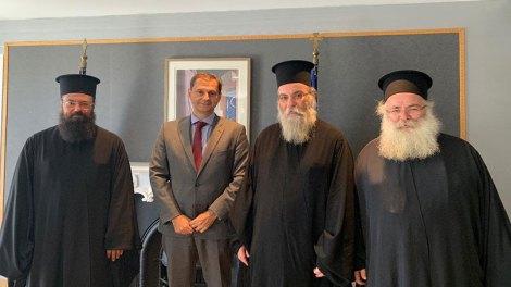 Συνάντηση αντιπροσωπείαςτης Εκκλησίας Κρήτης με Υπουργό Τουρισμού