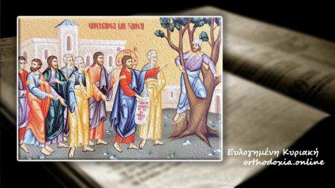 Ευαγγέλιο | Ευαγγέλιο και Απόστολος Κυριακή 26 Ιανουαρίου 2020