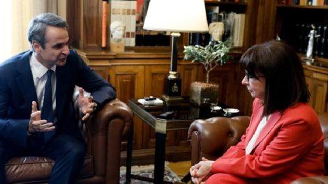 Μητσοτάκης - Σακελλαροπούλου προς Τουρκία : «Θα αντιμετωπίσουμε τις προκλήσεις»