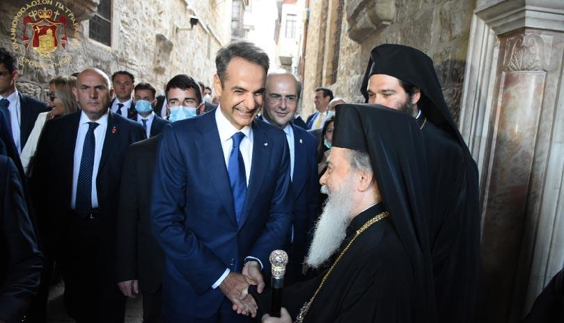 Πατριαρχείο Ιεροσολύμων: Ο Κυριάκος Μητσοτάκης στον Πανίερο ναό της Αναστάσεως ΒΙΝΤΕΟ