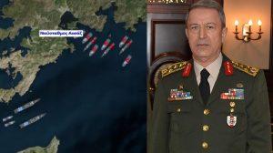 Ιταμή επίθεση Ακάρ στην Πρόεδρο της Δημοκρατίας - Μεγάλη συγκέντρωση τουρκικών πλοίων κοντά στη Ρόδο