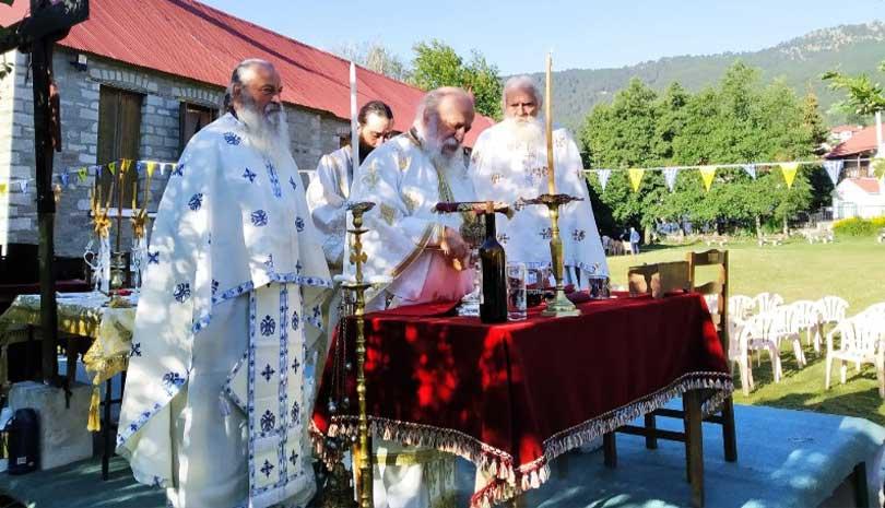 Γιόρτασε η Μεγάλη Παναγιά στη Σαμαρίνα