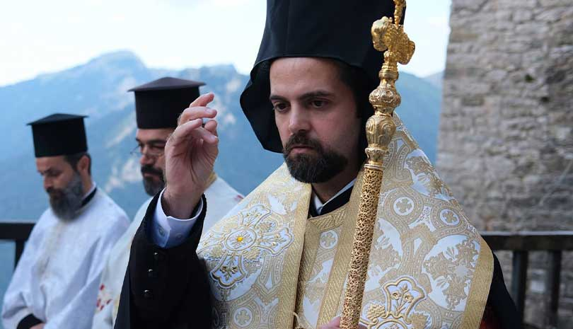 Ο Επίσκοπος Μελιτηνής Μάξιμος στην Ι. Μονή Παναγίας Πελεκητής