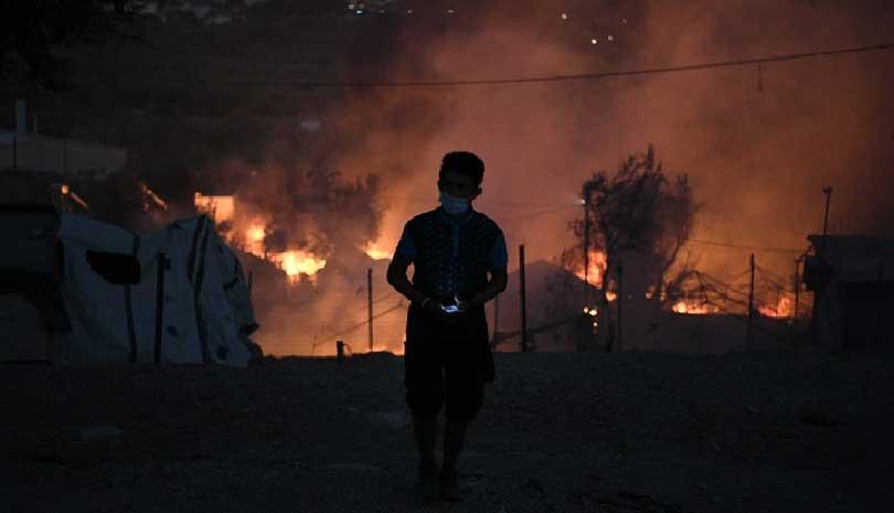Ξέσπασε νέα πυρκαγιά στη Μόρια