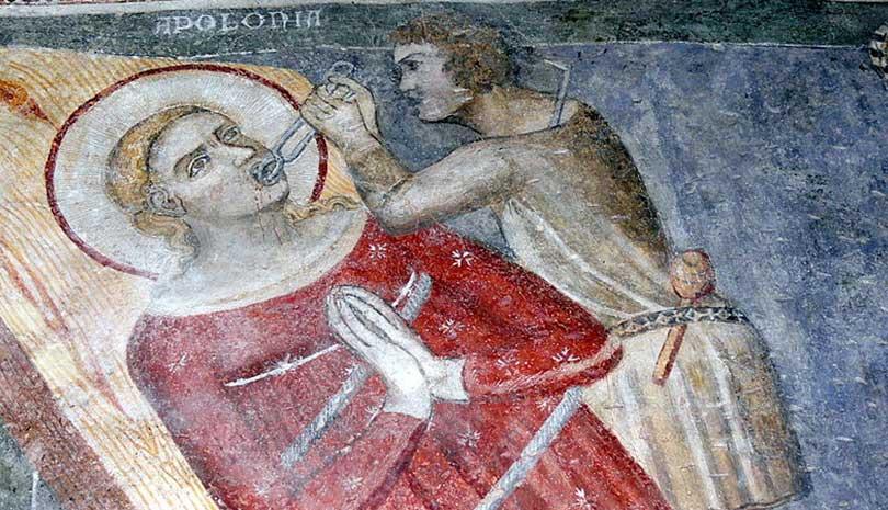 Η Αγία Απολλωνία, η Παρθένος και Πρεσβύτης, και οι συν αυτή εν Αλεξάνδρεια Μάρτυρες γιορτάζει σήμερα 30 Οκτωβρίου