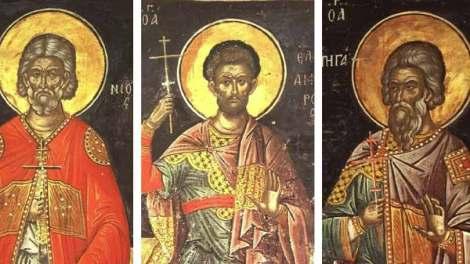 2 Νοεμβρίου: Σήμερα γιορτάζουν οι Άγιοι Ακίνδυνος, Αφθόνιος, Πηγάσιος, Ελπιδηφόρος και Ανεμπόδιστος