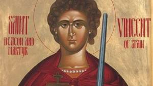 Σήμερα γιορτάζει ο Άγιος Βικέντιος ο Διάκονος Ιερομάρτυρας