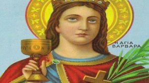Γιατί η Αγία Βαρβάρα κρατά το ιερό ποτήριο στο χέρι;