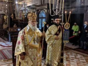 Στον Ιερό Ναό του Αγίου Σπυρίδωνος στην Κέρκυρα λειτούργησε το πρωί της Κυριακής 24 Ιανουαρίου 2021, ο Σεβασμιώτατος Μητροπολίτης Κερκύρας Νεκτάριος.