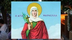 Χίος : Μέγας Πανηγυρικός Εσπερινός για την Αγία Μαρκέλλα - Εικόνες και βίντεο