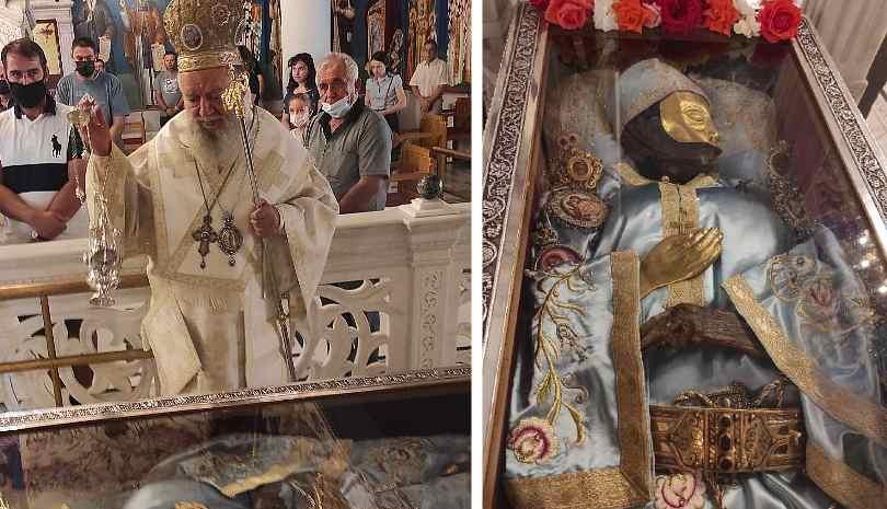 Ο Μητροπολίτης Χαλκίδος στον τόπο του νέου θαύματος του Οσίου Ιωάννη του Ρώσου