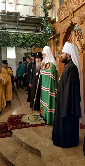 Patriarch Kirill of Moscow at the ROCOR cathedral in London