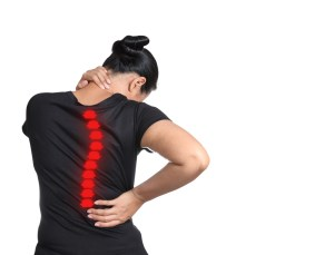 young woman with scoliosis