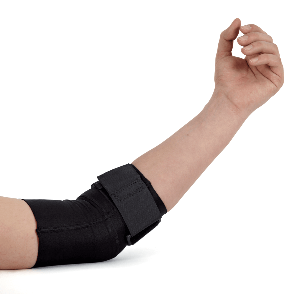 Arm in a brace for Distal Bicep Rupture treatment