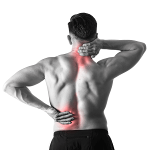 Man with scoliosis