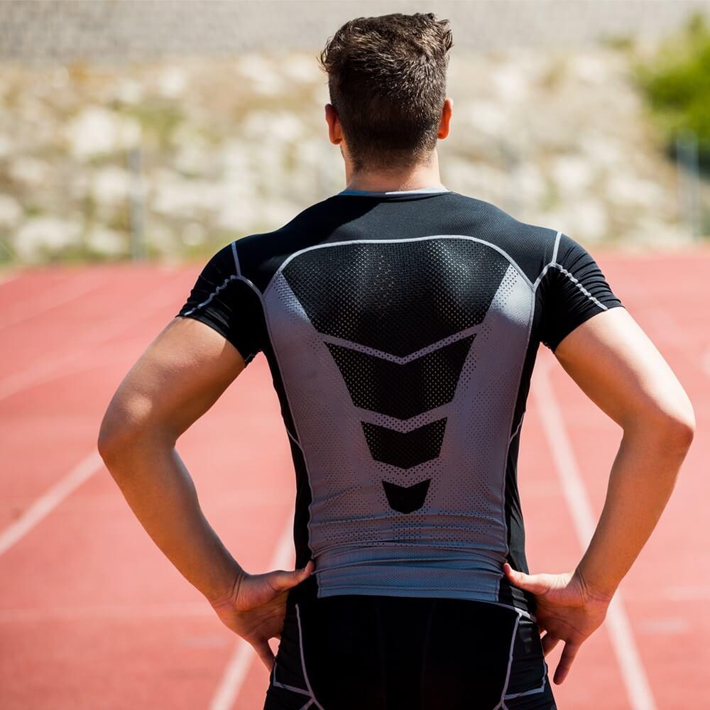 Athlete standing on running track