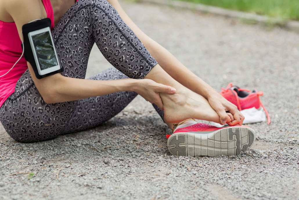 Woman with an Achilles Tendon Rupture