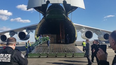 Photo of Russian plane with coronavirus medical gear lands in U.S. after Trump-Putin call